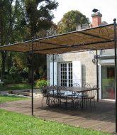 Moderne glazen veranda ou veranda unopiu