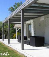 Veranda piscine adosse et veranda a toit plat