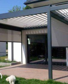 Veranda Moderne Tarif : Veranda Alu Retractable