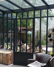 Veranda type atelier : veranda acier verre