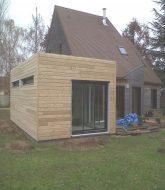 Extension ossature bois ou veranda, cout veranda 40m2