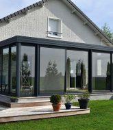 Veranda aluminium blanche : veranda high resort spa