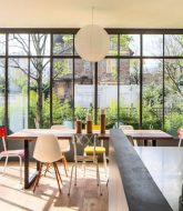 Veranda cloison amovible | modele veranda toit plat