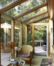 Idee de veranda en bois – veranda bois bioclimatique