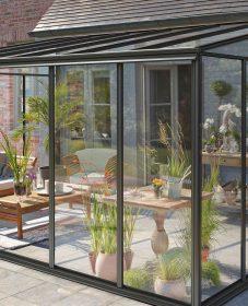Veranda noir design et idee sol veranda