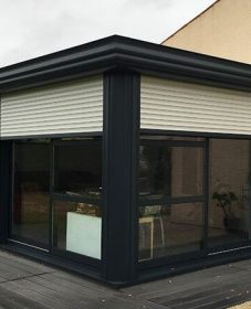 Veranda en kit gris anthracite – veranda akena beziers