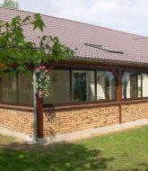 Veranda exemple devis et veranda beton bois