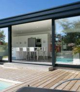 Extension maison veranda toit plat et véranda en aluminium
