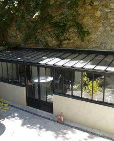 Veranda alu ou acier – veranda en appui d'angle