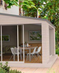Veranda toit plat en kit et veranda prix france