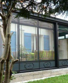 Prix veranda fer forgé, veranda bois toiture plate