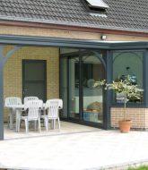 Grandeur nature veranda voile par veranda bois alsace