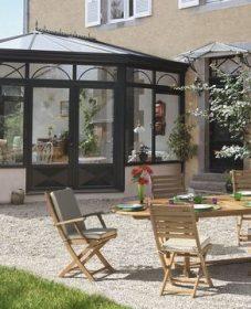 Image aménagement véranda : veranda noire