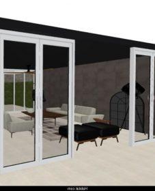 Veranda toiture ardoise : modele 3d veranda