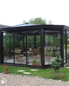 Véranda en forme de kiosque : veranda prix 30m2