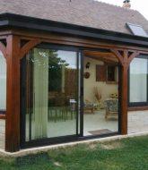 Veranda bois exotique – veranda alu couleur bois