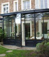 Veranda avec porte d'entrée | fabricant veranda aluminium belgique