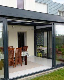 Veranda en alu prix – veranda acier contemporaine